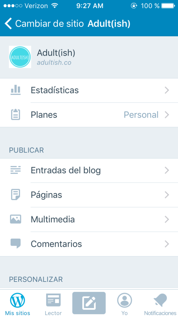 Apps for business: WordPress app preview